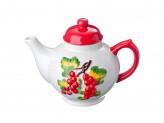 Чайник заварочный, 730мл, Красная смородина, керамика