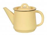 Чайник 1,0л без рисунка кремовый