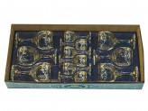 Набор бокалов двойка  из 12 предметов Лилия бокал-рюмка