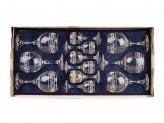 Набор бокалов двойка  из 12 предметов Люкс бокал-рюмка
