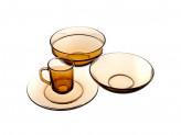 """Набор столовый 19 предметов, дымчатое стекло, """"Базилико"""""""