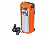 Фонарь аккумуляторный переносной, пластик, 18+1LED, 15,7x7см, 3xАA, 220B,