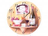 Часы круглые МДФ Вино, фрукты