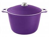 Кастрюля 10 л с декоративным покрытием (фиолетовый)