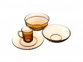 """Набор столовый 19 предметов, дымчатое стекло, """"Элика"""""""