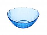 Салатник фигурный, 200мл, стекло, синий Марлин