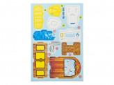 "3D Пазл ""Предметы мебели"", картон, 14х21см, 4 дизайна"