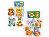 "Пазлы мягкие ""Baby puzzle Микс"", бумага, ЭВА, 16х29х2см, 8 дизайнов ВЛАДИ ТОЙС"