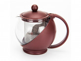 Чайник заварочный 500мл, ситечко из нержавеющей стали, стекло, пластик, 4 цвета