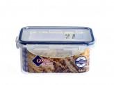 Контейнер пластиковый с  защелками для пищи  0,8л