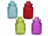 Банка для сыпучих продуктов, 1000мл, стекло, 4 цвета