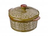 Горшочек с крышкой для запекания и сервировки, керамика, 15,5х13,5х6см, 500мл, 2 цвета
