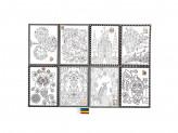 Раскраска антистресс, бумага, 26х19см, 4 фломастера, 8 дизайнов