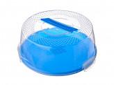 Бокс для готовой выпечки (поднос + крышка), пластик, 28х12см, 4 цвета
