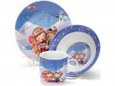 Набор детской посуды, 3 предмета, LR 23388
