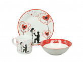 Набор детской посуды, 3 предмета, ROSENBERG 8764