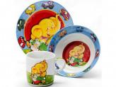 Набор детской посуды, 3 предмета, LR 24021