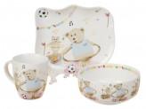 Набор детской посуды, 3 предмета, керамика, 8780