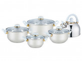 Набор посуды, 9 предметов, BEKKER, BK-4601