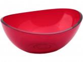 Салатник КРИСТАЛЛ 2,5л. Красный прозрачный