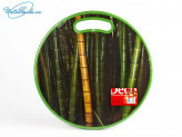 Доска кухонная 35х35х1,2 из пластика с поверхностью из бамбука