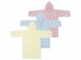 Дождевик-плащ детский, 83х54см, в горошек, ЭВА, 3 цвета