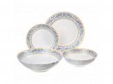 """Набор столовой посуды, """"Аделина""""  опаловое стекло, 19 предметов."""