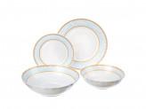 """Набор столовой посуды, """"Кристина""""  опаловое стекло, 19 предметов."""