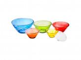 Набор контейнеров 5шт, цветное стекло