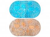 """Коврик в ванну противоскользящий, ПВХ, 68x38см, """"Герберы"""", 3 цвета"""