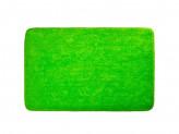 Коврик для ванной, акриловый ворс 1,2см, 50х80см, однотонный зелёный,