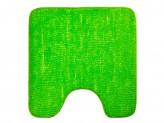 Коврик для туалета 50x50см, однотонный зелёный,