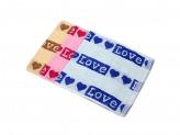 """Полотенце махровое, хлопок, 30х70см,""""Love"""", 3 цвета"""