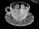 Набор чайный 12 предметов   6 чашек + 6 блюдец 210мл хрустальное гранение