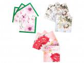 """Салфетки бумажные 20шт, двухслойные, 33x33см """"цветочные мотивы"""", 3 дизайна"""