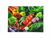 Доска разделочная стеклянная 30х40х0,4см овощное ассорти VETTA