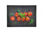 Доска разделочная стеклянная 30х40х0,4см томаты черри VETTA