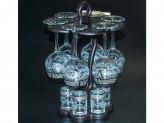 """Набор с барной стойкой 13 предметов с рисунком """"мускат"""" ge05-1689/837-бс в7-1"""