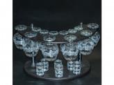 """Набор с барной стойкой 19 предметов с рисунком """"мускат"""" ge05-188/164/837-бс в7-2"""
