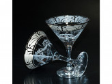 """Набор 6 бокалов для мартини с рисунком """"мускат"""" ge05-410 в7-3"""