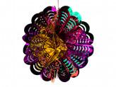 Новогоднее украшение из фольги уп 10шт s633