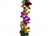 Новогоднее украшение растяжка из фольги уп 10шт s647