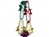 Новогоднее украшение растяжка из фольги уп 10шт s628
