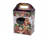 Коробка бумажная новогодняя (19х16х11см) l s-660 упаковка по 12 шт.