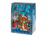 Коробка бумажная новогодняя (23х17х11см) m s-661 упаковка по 12 шт.
