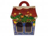Коробка бумажная новогодняя (22х18х14см) t s-663 упаковка по 12 шт.