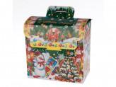 Коробка бумажная новогодняя (17х18х10,5см) b s-659 упаковка по 12 шт.