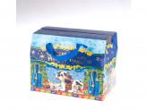 Коробка бумажная новогодняя (13х18х12см) c s-658 упаковка по 12 шт.
