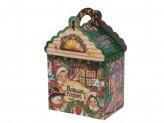 Коробка бумажная новогодняя (19х14,5х10см) -a s-656 упаковка по 12 шт.