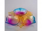 Менажница стекло цветное 25см h  s-306